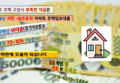 서민실수요자 아파트대출 조정대상지역 대전시 대덕구 아파트구입자금80% 현대해상아파트담보대출 진행한 사례